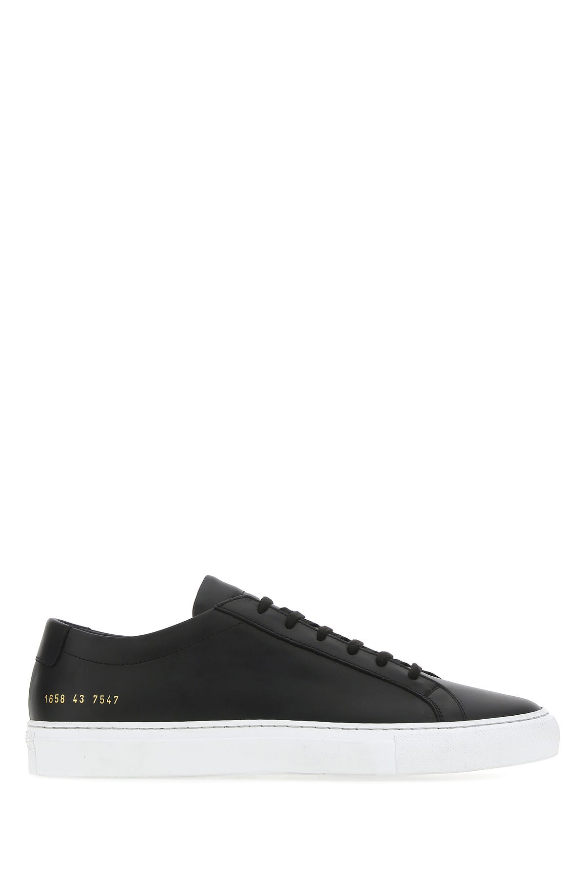 Common Projects BLACK LEATHER ACHILLES SNEAKERS  BLACK COMMON PROJECTS UOMO 43
