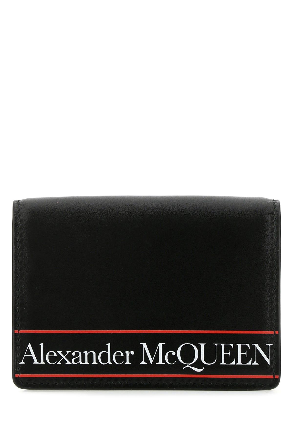 Alexander Mcqueen Porta Tessere-tu In Black