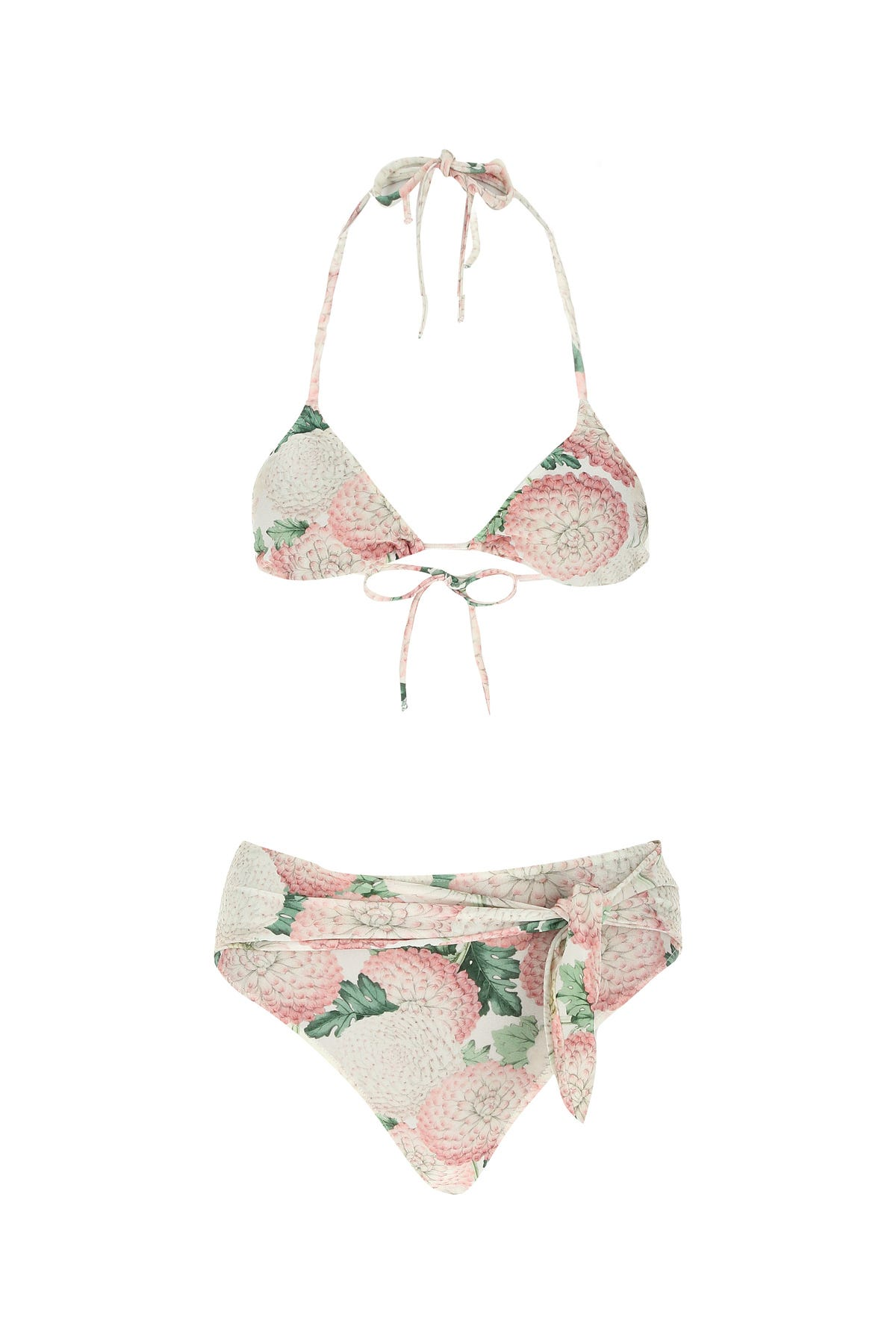 Adriana Degreas Printed Stretch Nylon Dahlia Bikini Floral  Donna L