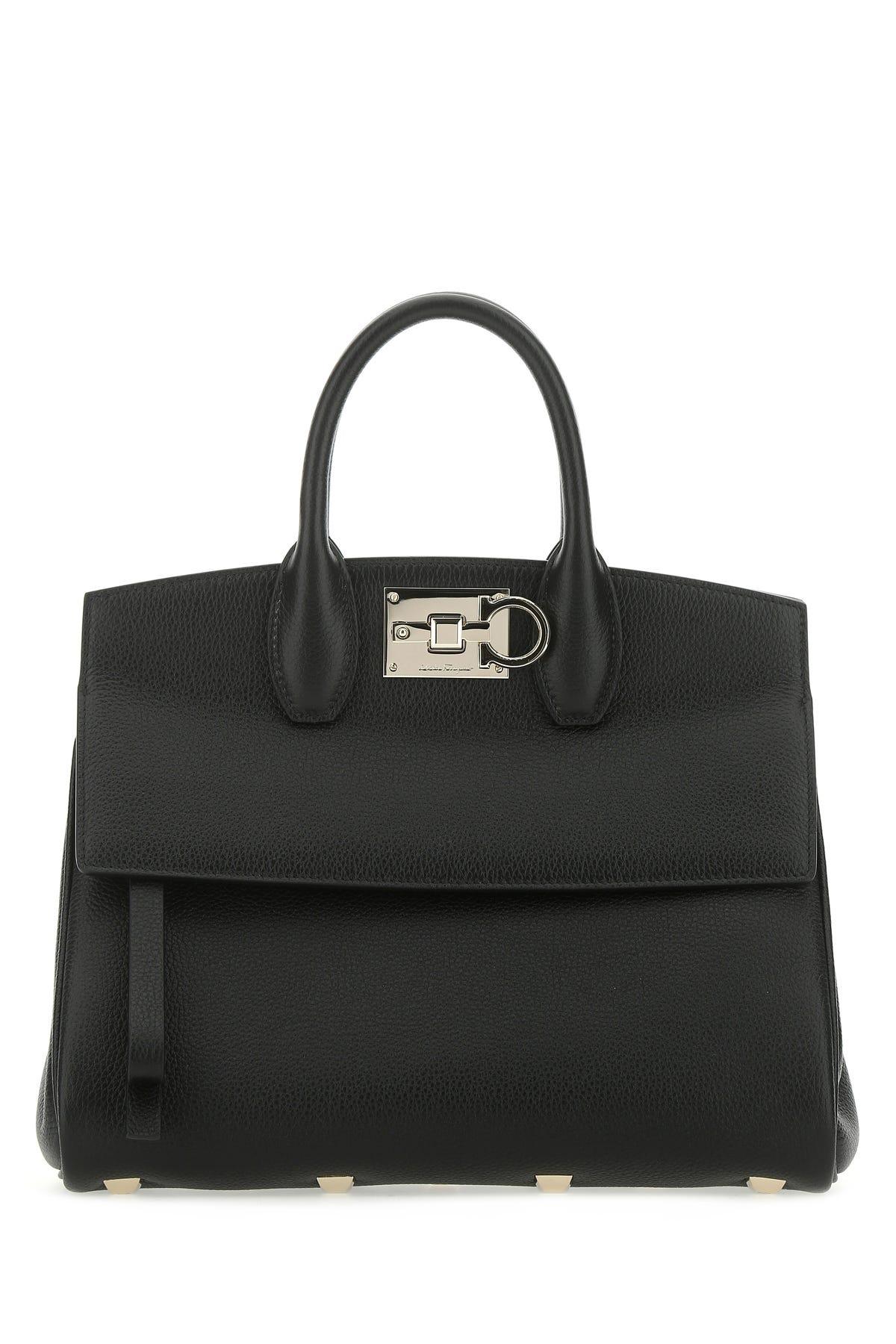 Salvatore Ferragamo Black Leather The Studio Handbag Nd  Donna Tu