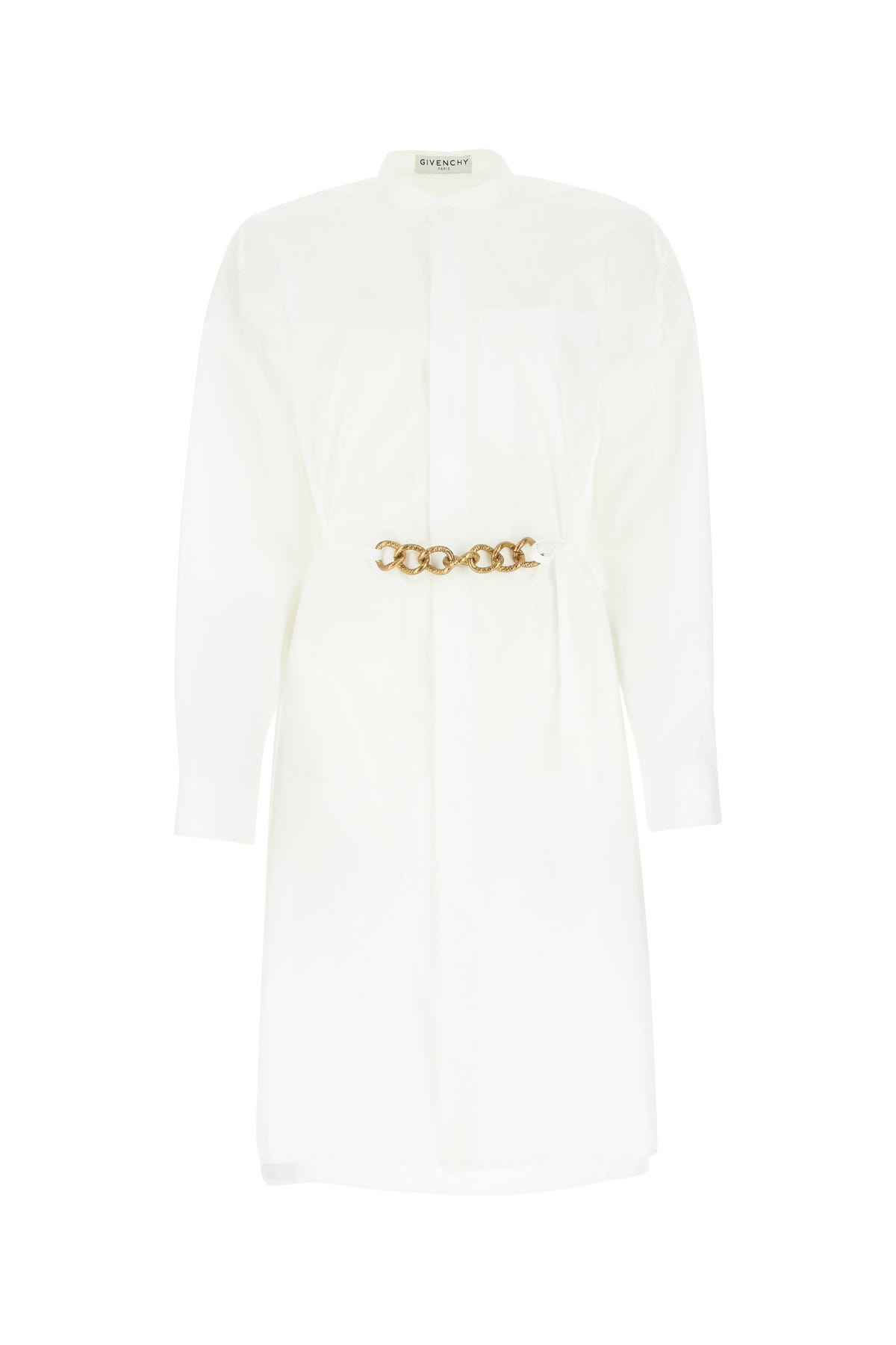 Givenchy Cottons WHITE POPLIN SHIRT DRESS WHITE GIVENCHY DONNA 36F