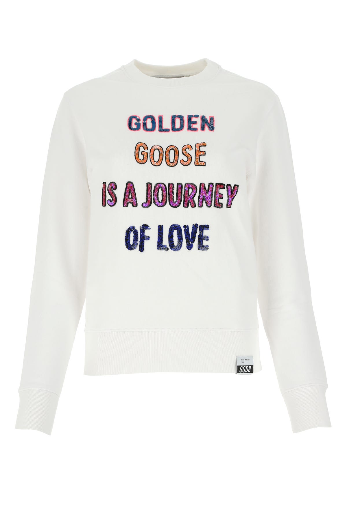 Golden Goose WHITE COTTON ATHENA SWEATSHIRT  WHITE GOLDEN GOOSE DELUXE BRAND DONNA XS