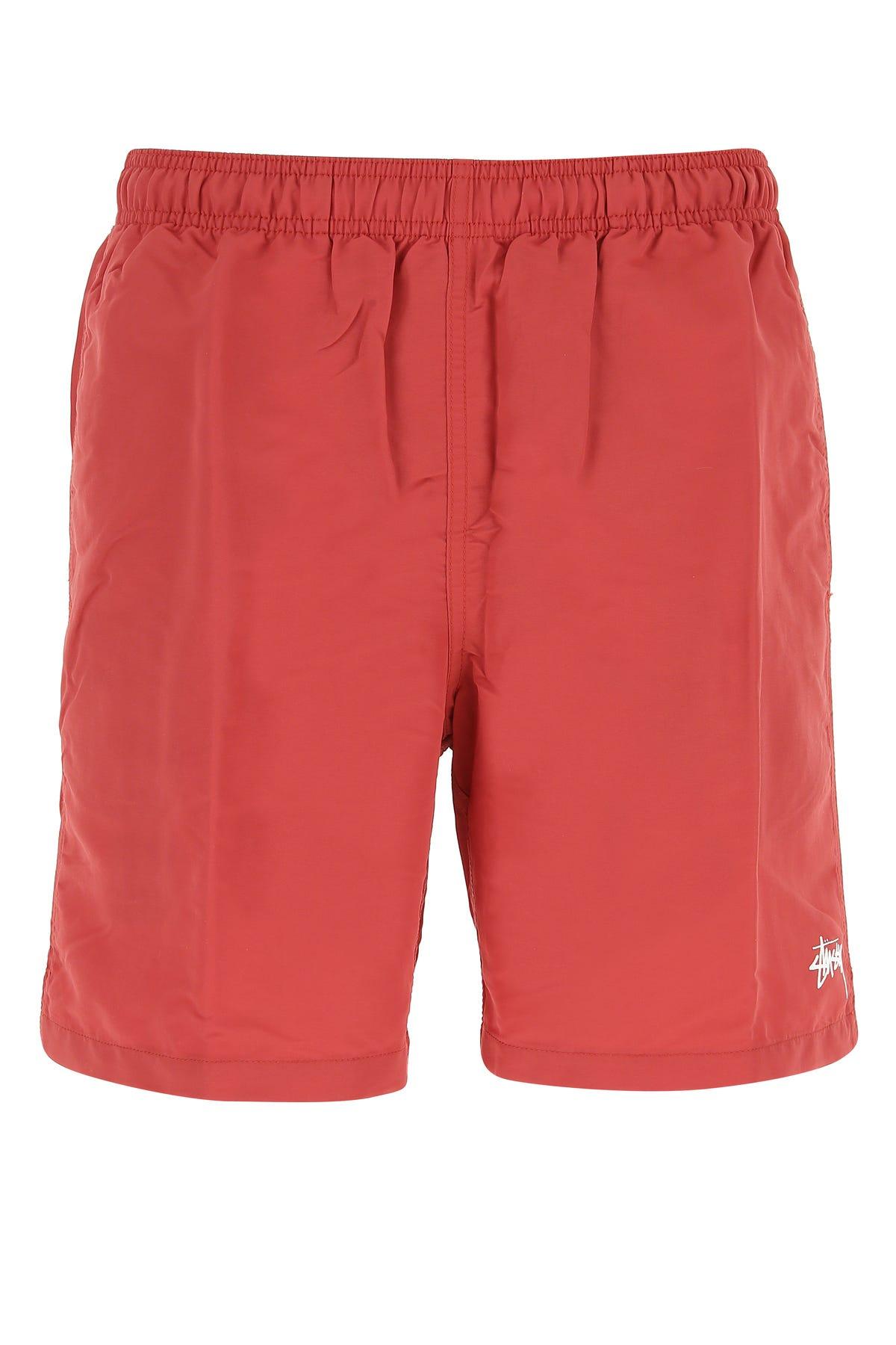 Stussy Red Nylon Swimming Shorts  Nd  Uomo M