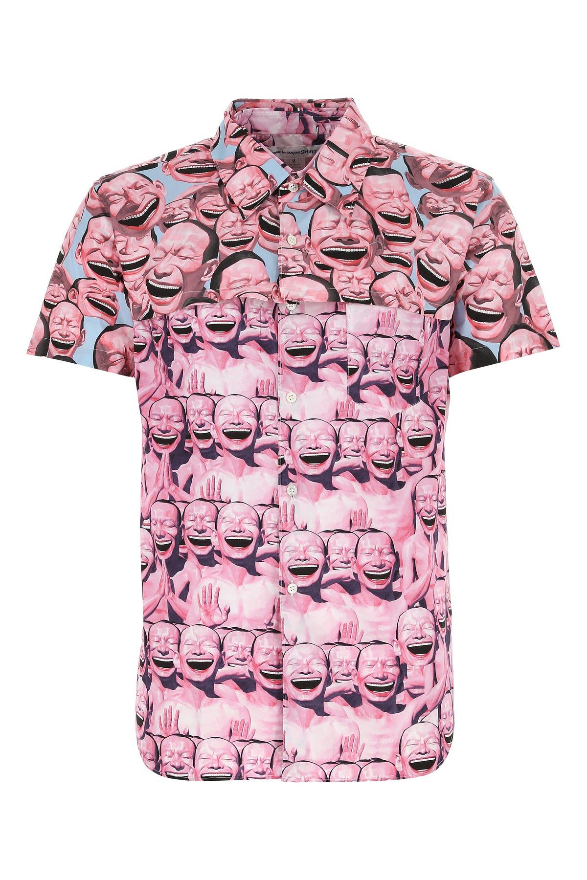 Comme Des Garçons Shirt Shorts PRINTED COTTON SHIRT  PRINTED COMME DES GARCONS SHIRT UOMO S