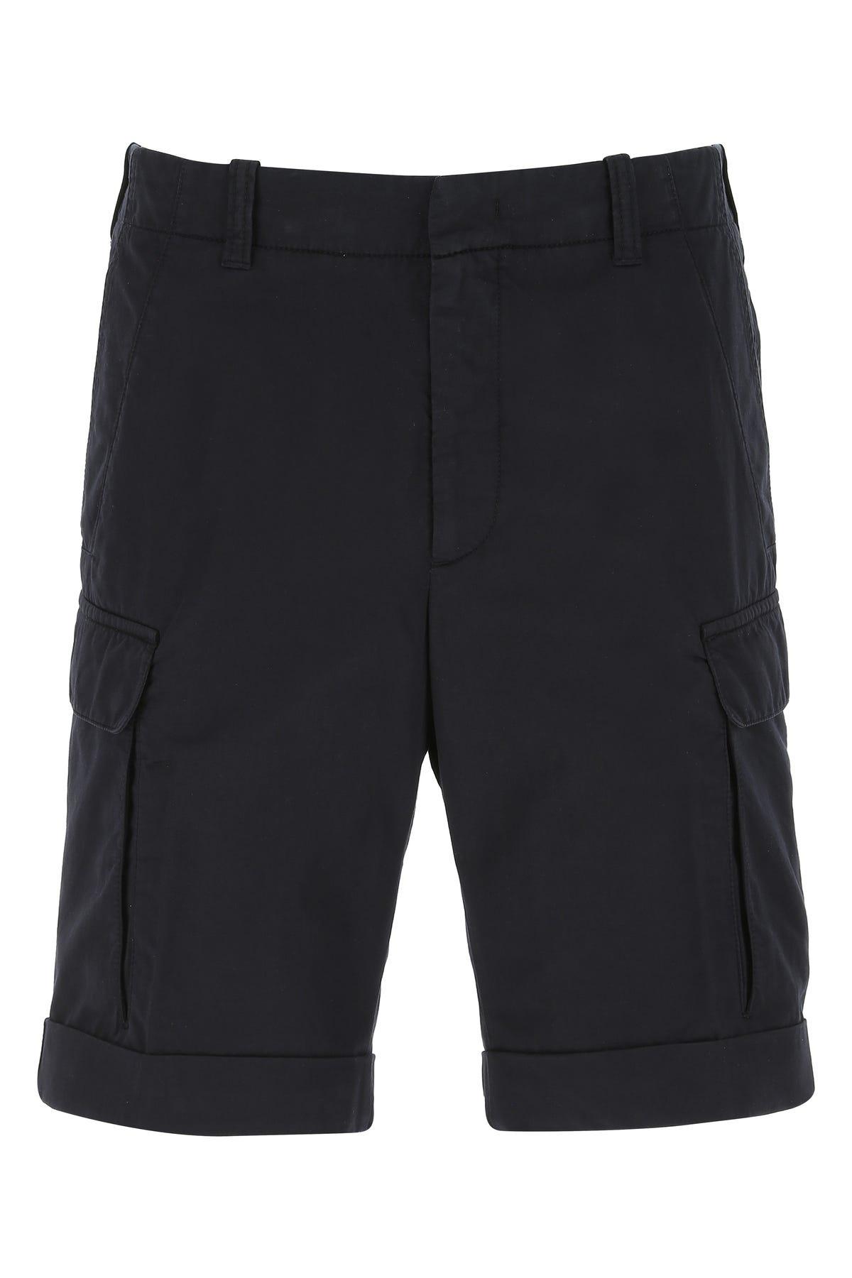 Z Zegna Dove Grey Cotton Blend Bermuda Shorts  Grey  Uomo 48