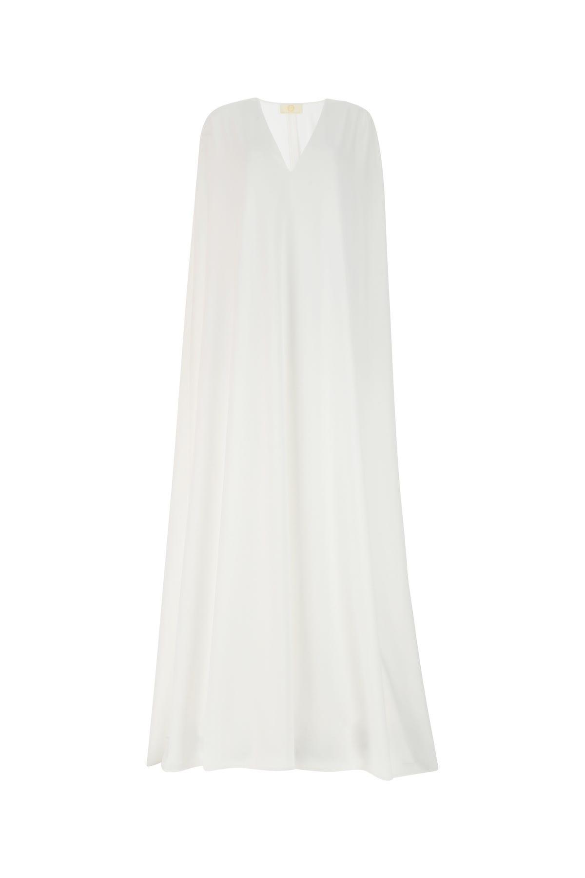 Sara Battaglia White Stretch Polyester Dress  White  Donna 42