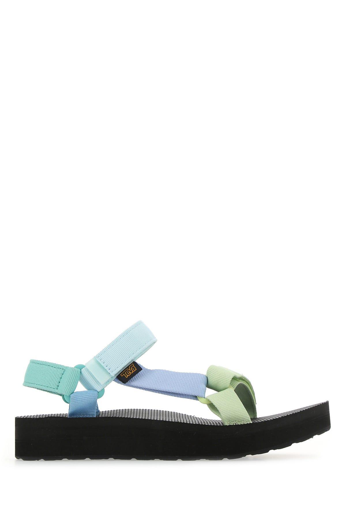 Teva Multicolor Polyester Sandals  Nd  Donna 9