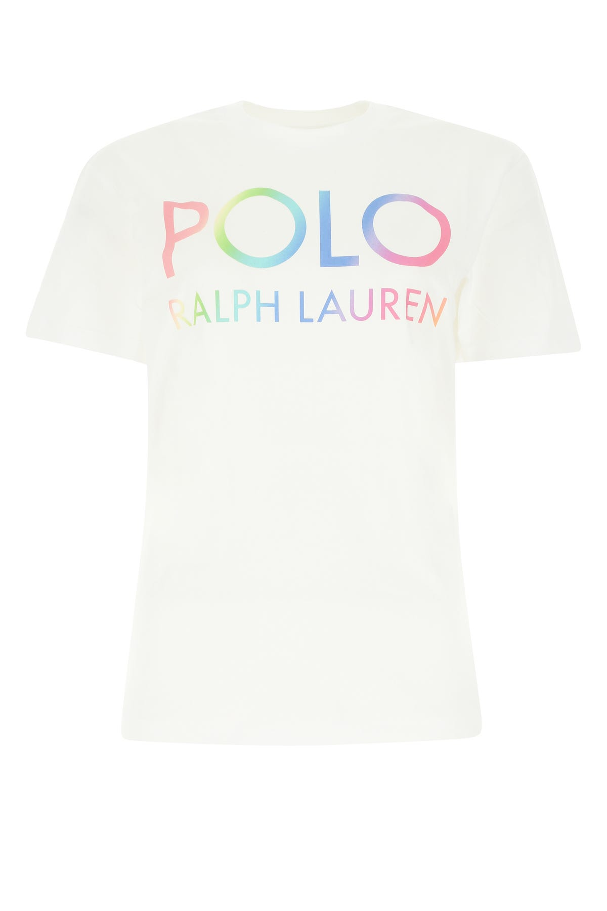Polo Ralph Lauren WHITE COTTON T-SHIRT  ND POLO RALPH LAUREN DONNA XL