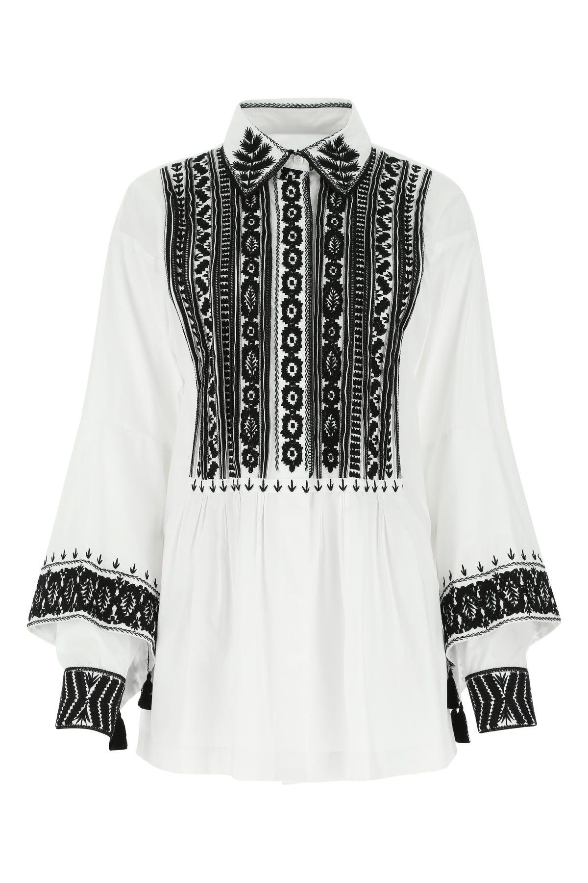 Dries Van Noten Shirts WHITE POPLIN BLOUSE WHITE DRIES VAN NOTEN DONNA 38F