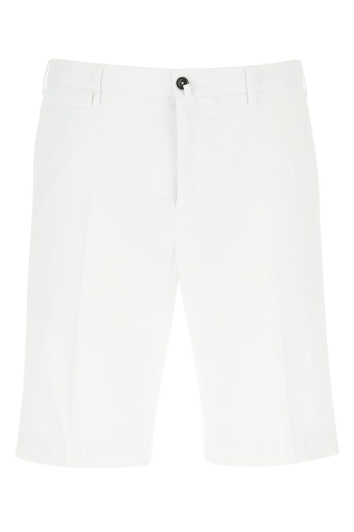 Pt01 Cotton Bermuda In White