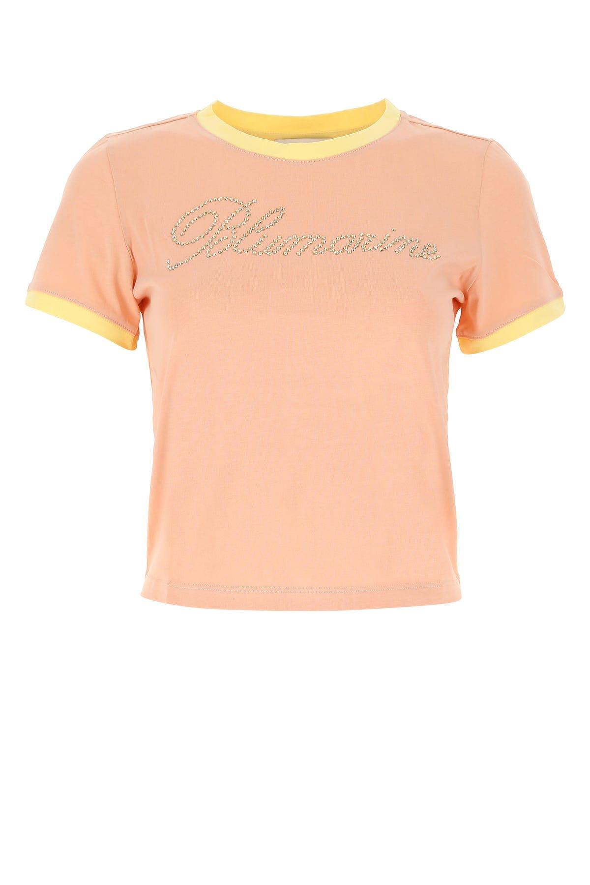 Blumarine POWDER PINK COTTON T-SHIRT  PINK BLUMARINE DONNA 44