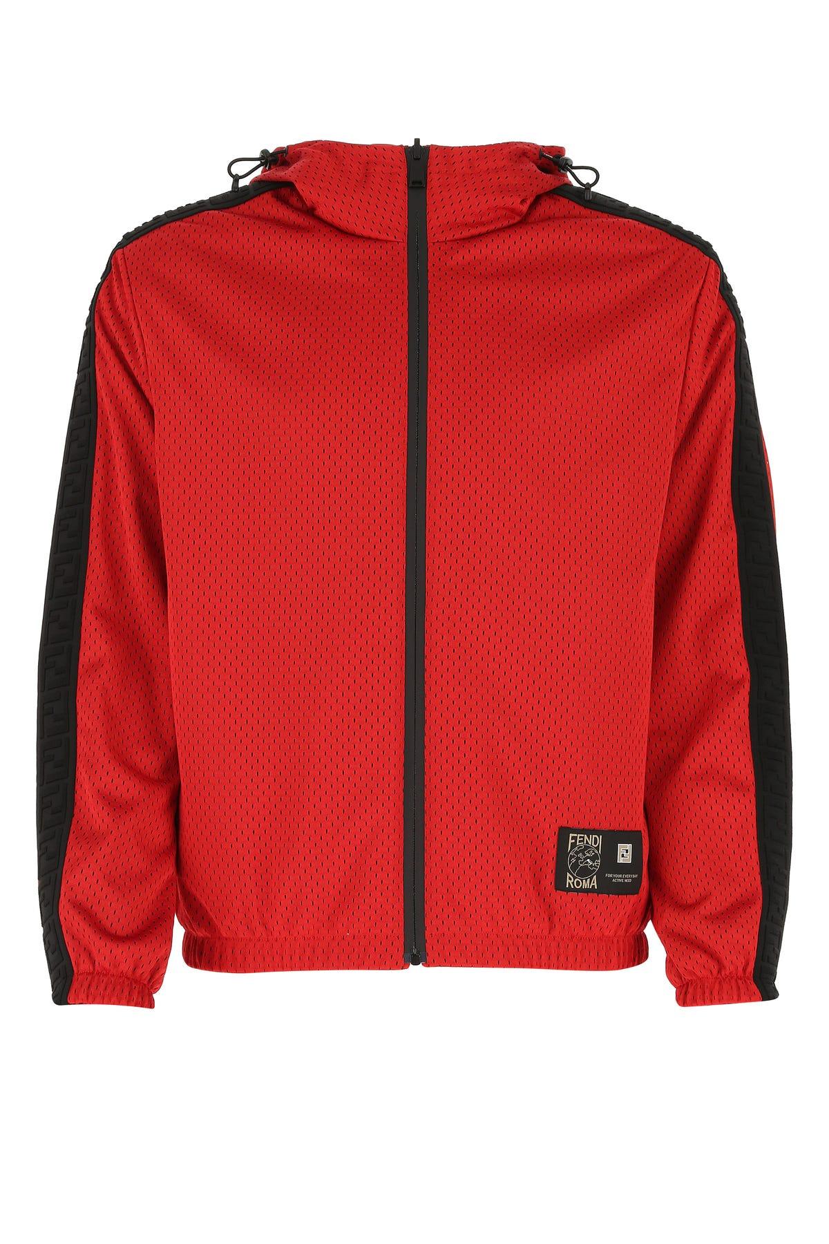 Fendi Clothing RED POLYESTER REVERSIBLE JACKET  RED FENDI UOMO 50