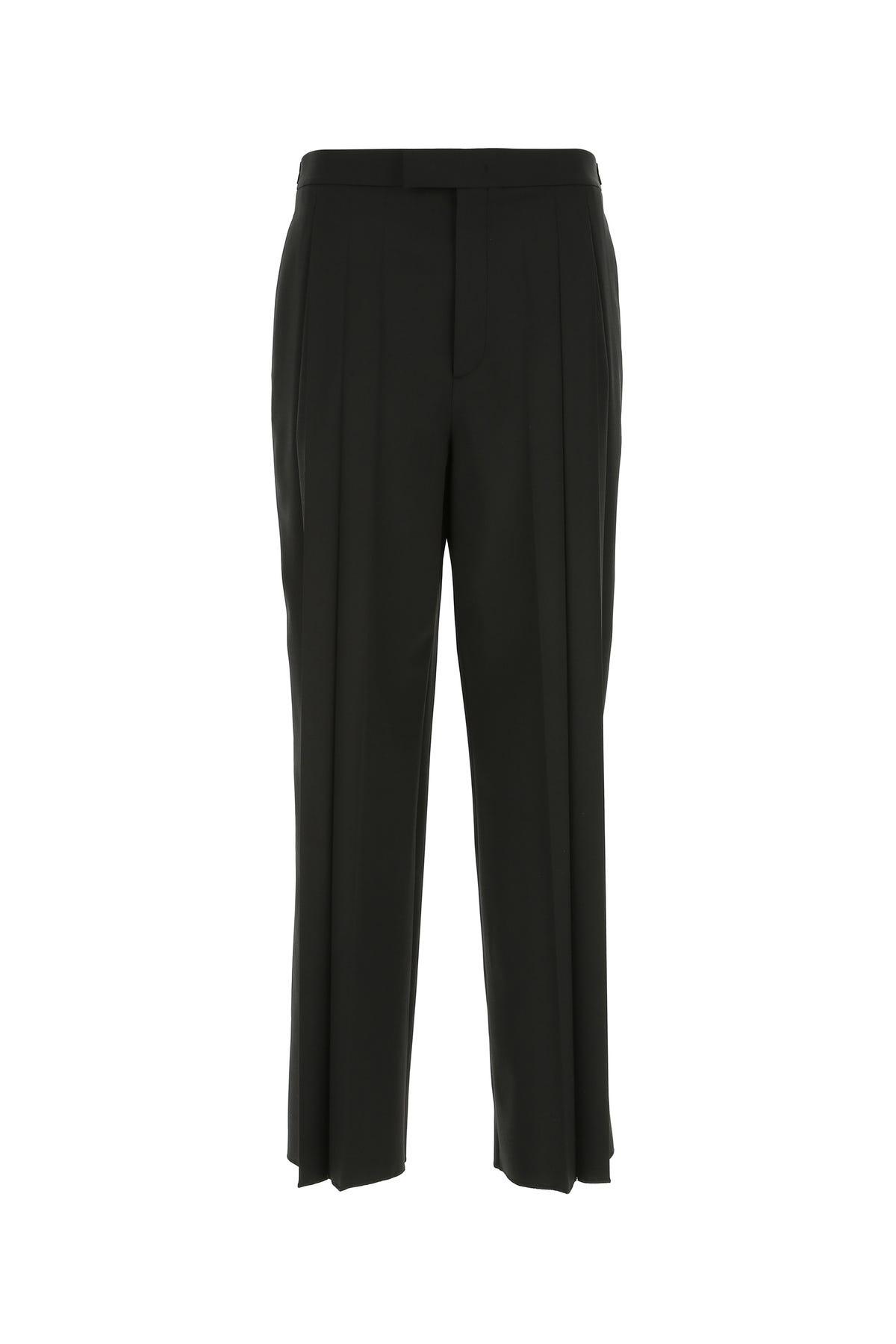 Valentino Black Stretch Polyester Blend Pant  Black  Uomo 50
