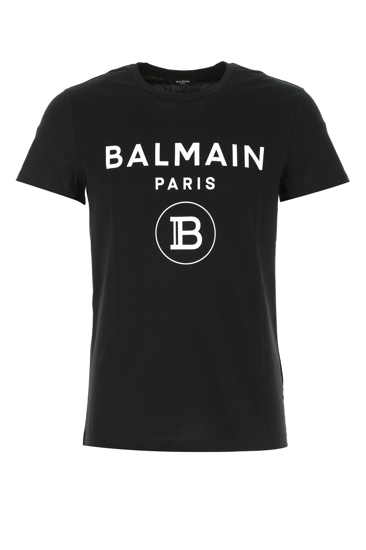 Balmain BLACK COTTON T-SHIRT  BLACK BALMAIN UOMO XL