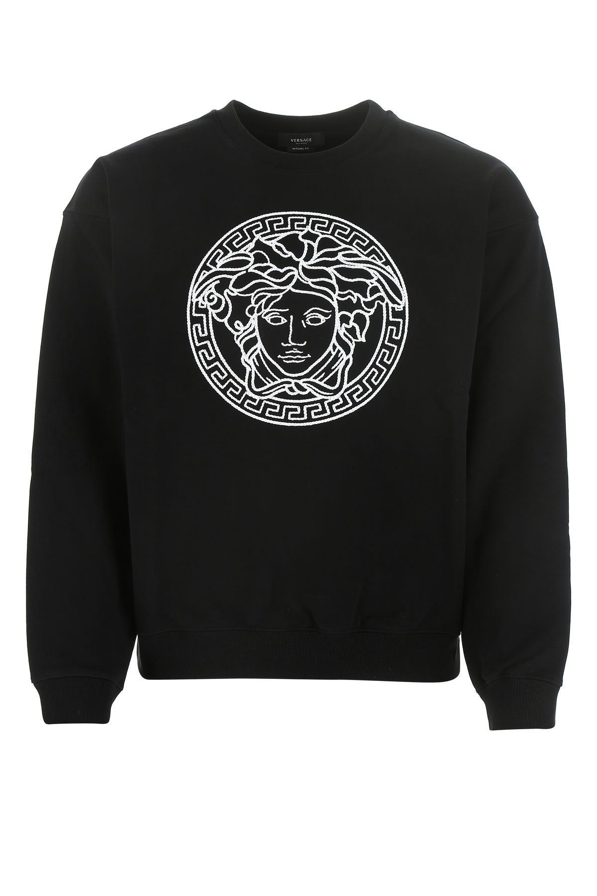Versace Black Cotton Sweatshirt  Black  Uomo Xl