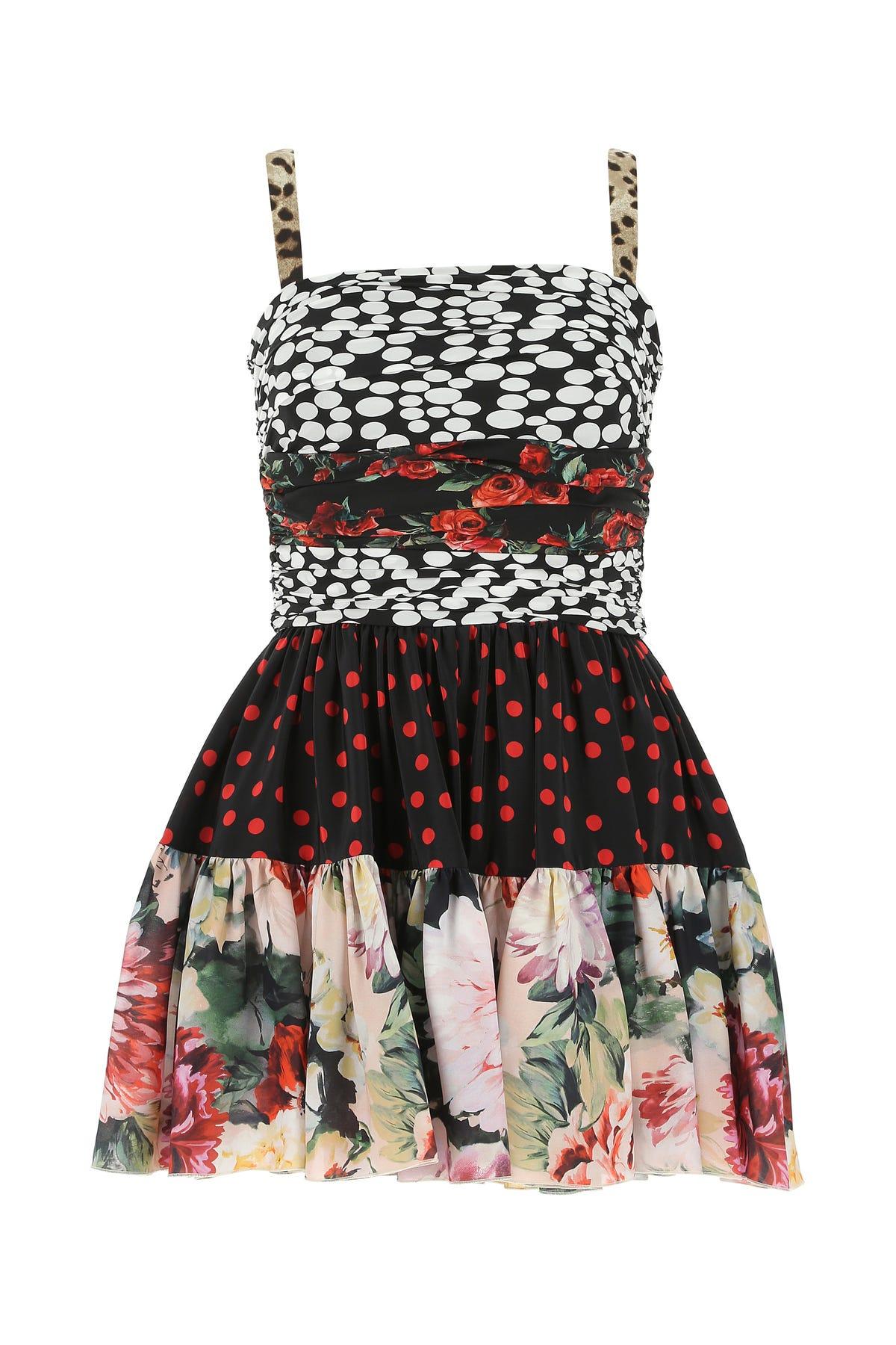 Dolce & Gabbana Printed Silk Dress  Printed Dolce & Gabbana Donna 42