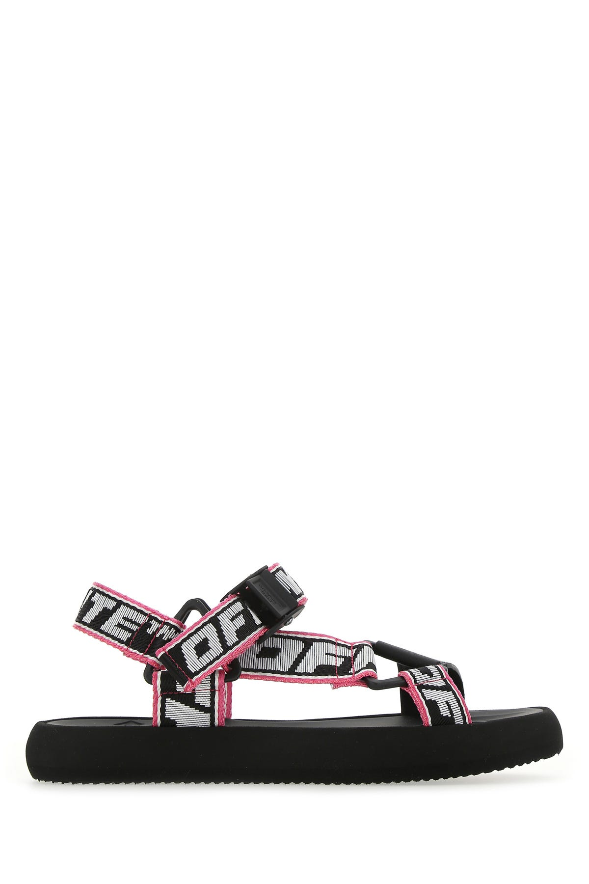 Off-White Sandals MULTICOLOR FABRIC AND LEATHER TREK SANDALS  PRINTED OFF WHITE DONNA 40