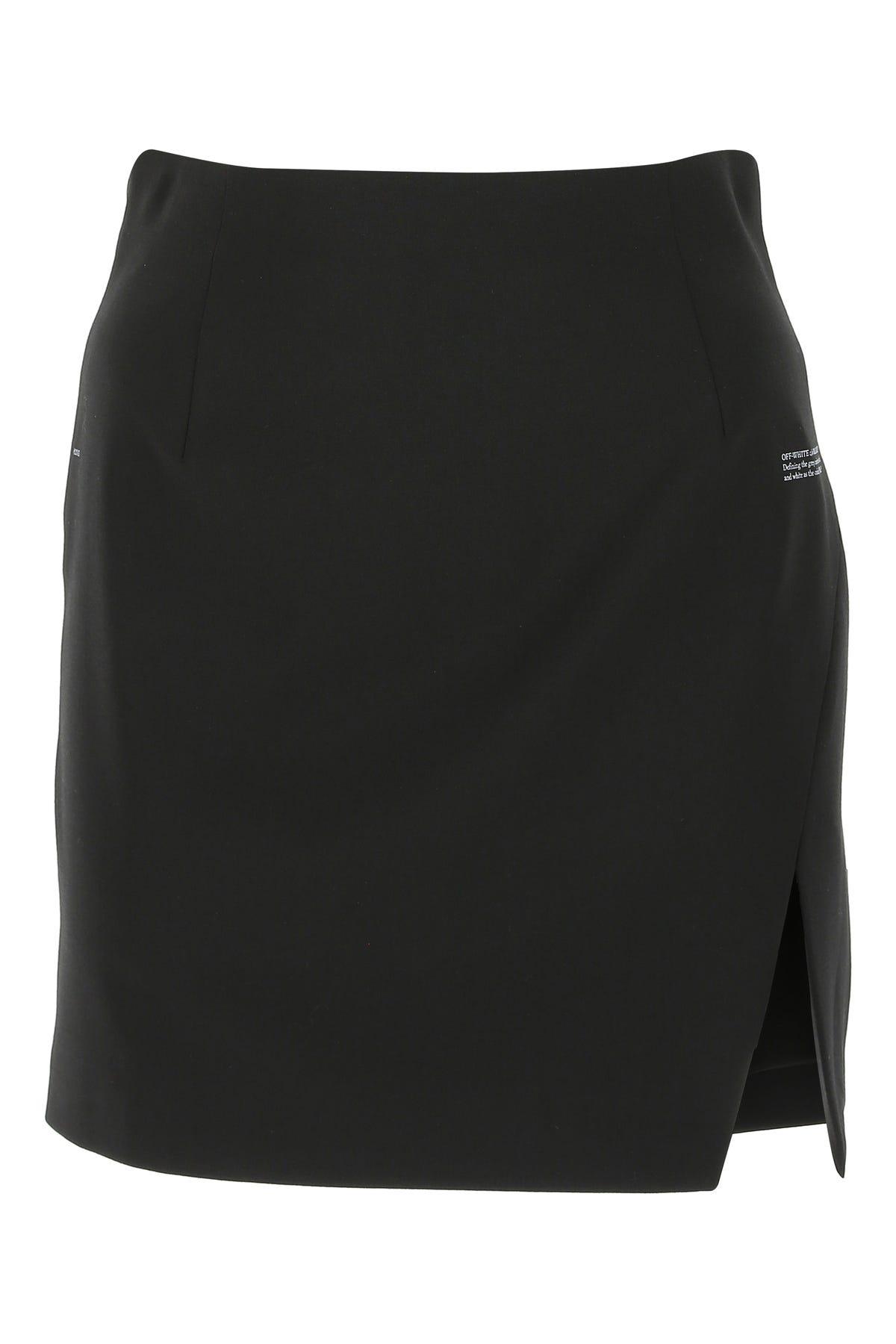 Off-white Black Stretch Polyester Blend Mini Skirt  Black Off White Donna 40