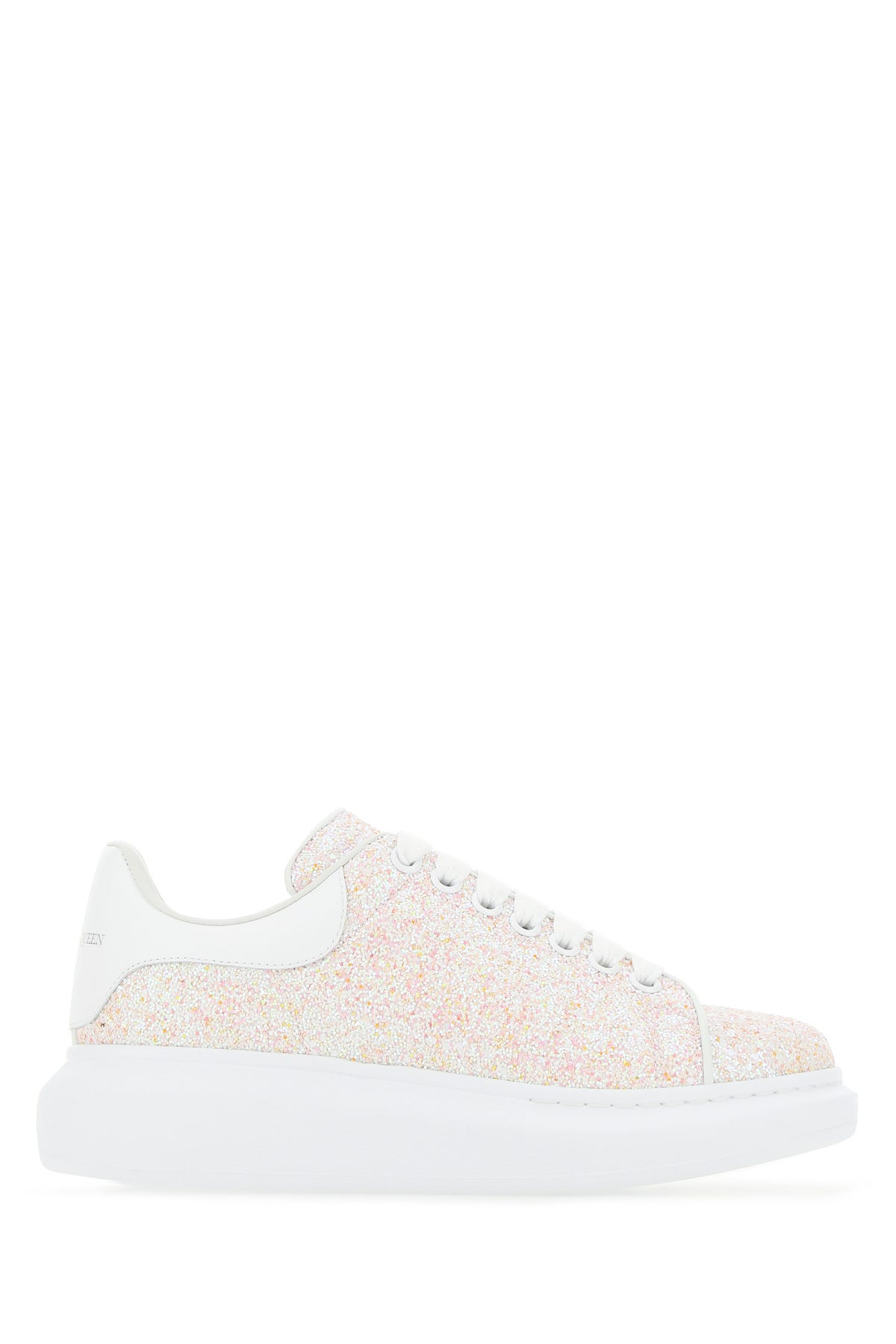 Alexander Mcqueen Glitters EMBELLISHED LEATHER WITH WHITE LEATHER HEEL SNEAKERS  ND ALEXANDER MCQUEEN DONNA 37