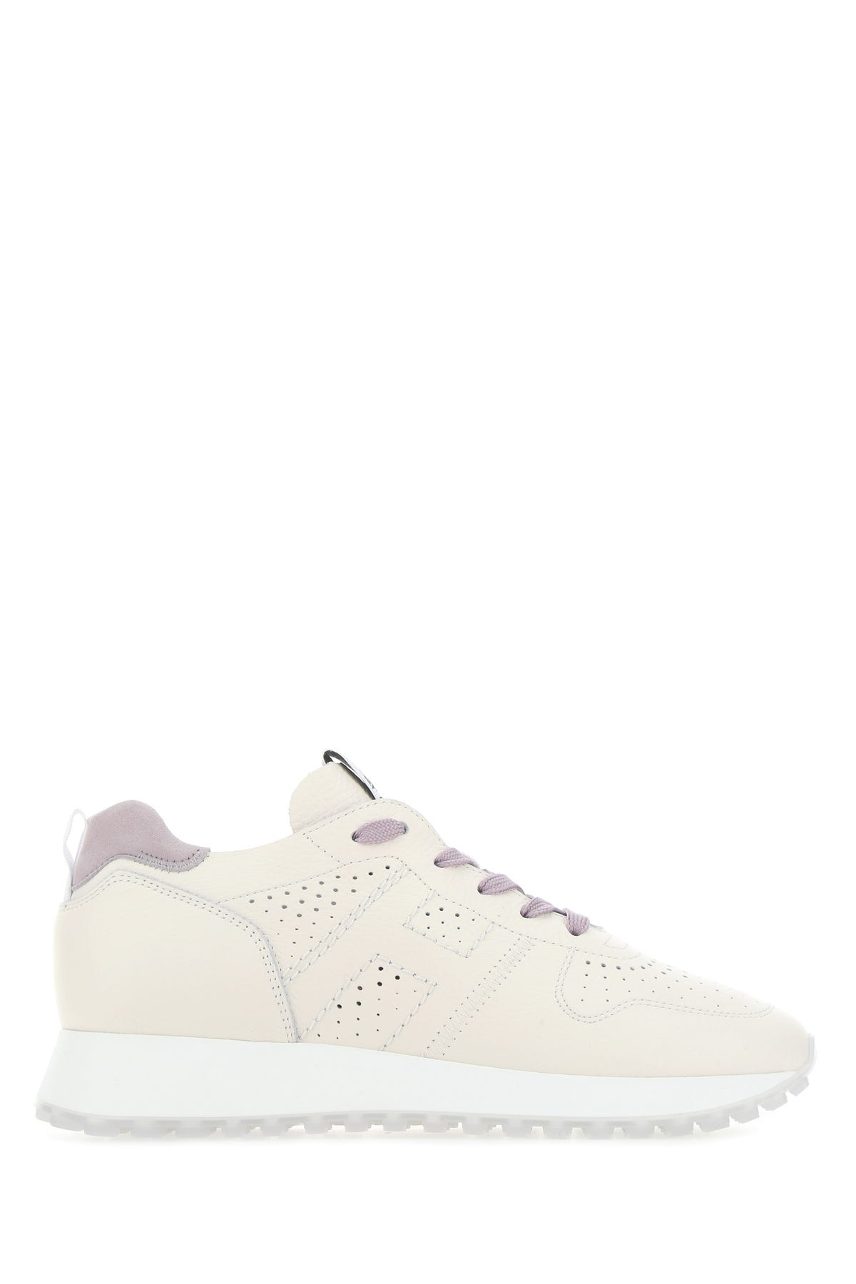 Shop Hogan Ivory Leather H429 Sneakers Nd Donna 38.5