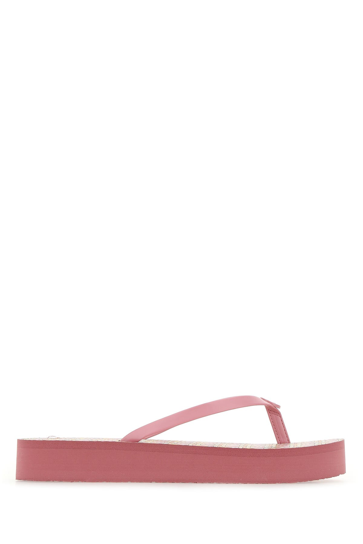 Tory Burch Printed Synthetic Leather And Rubber Thong Slippers  Nd  Donna 9