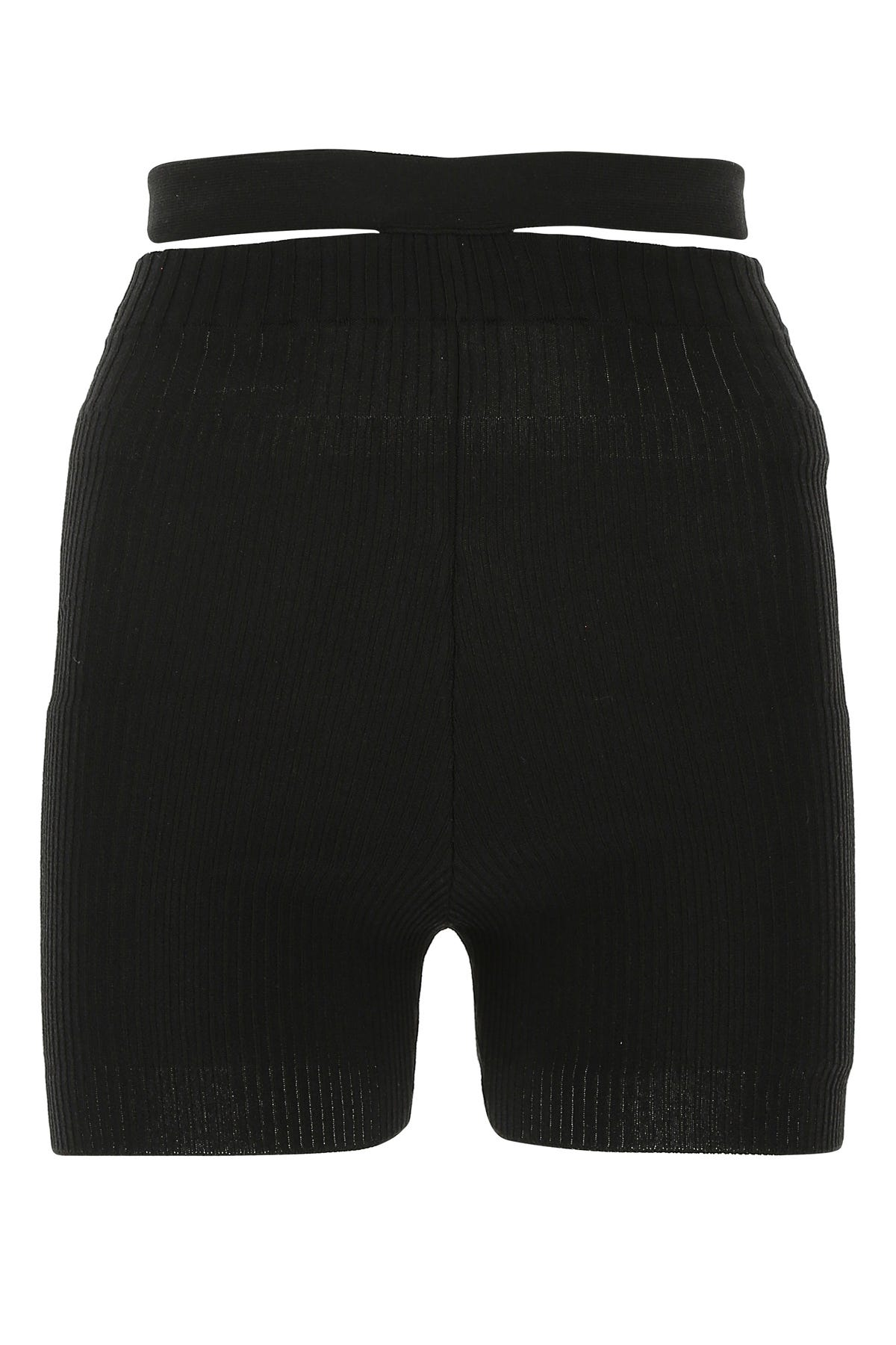 Adamo Black Stretch Viscose Blend Shorts  Black  Donna Xs