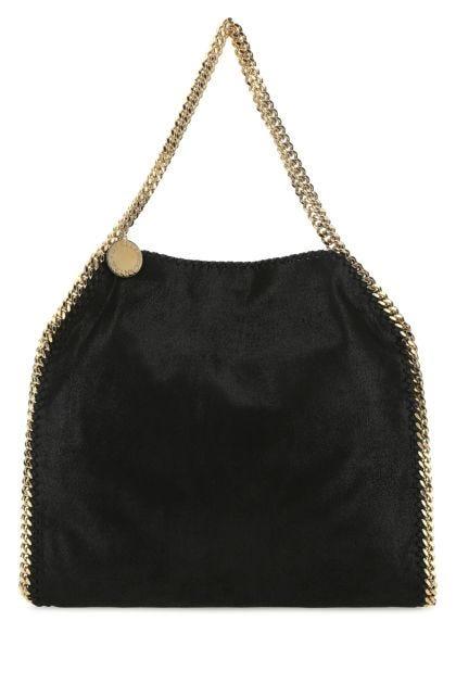 Black shaggy deer Falabella Fold Over shoulder bag