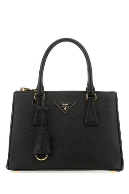 Black leather mini Galleria handbag
