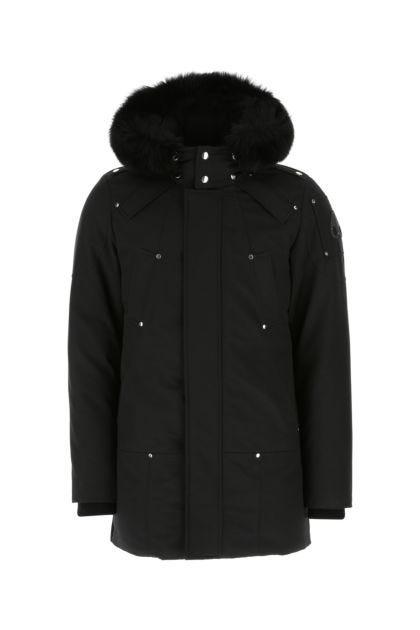 Black cotton blend Stirling down jacket