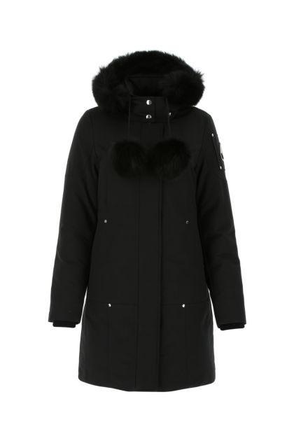 Black cotton blend Sterling down jacket