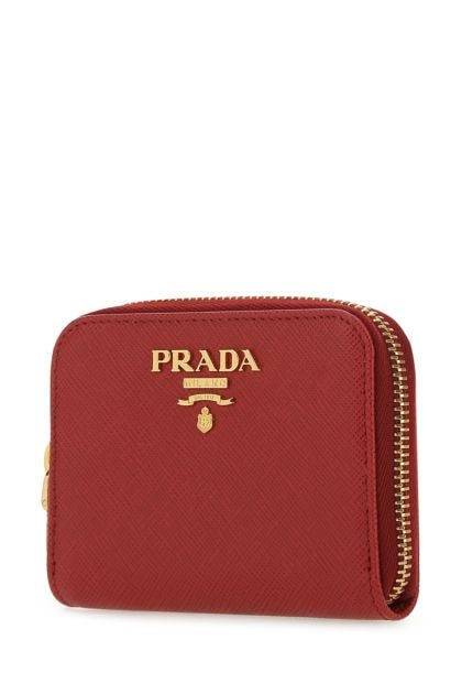 Tiziano red leather coin purse