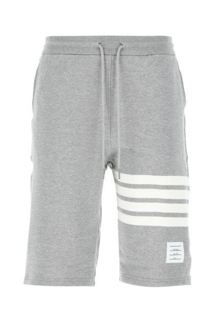 Melange grey cotton bermuda shorts