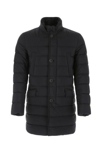 Black nylon Il Cappotto down jacket