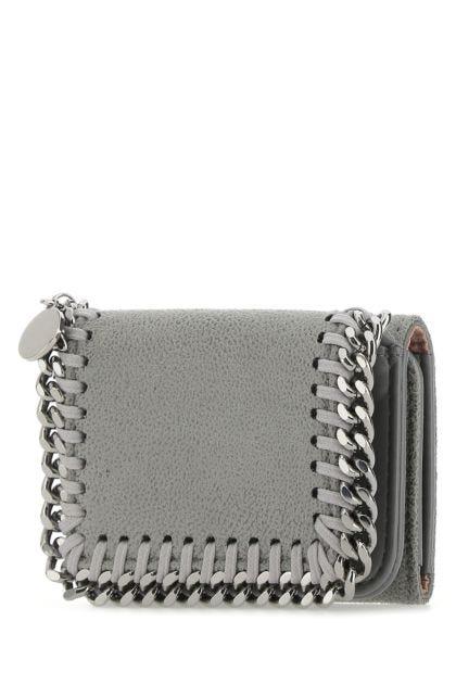 Grey shaggy deer mini Falabella wallet