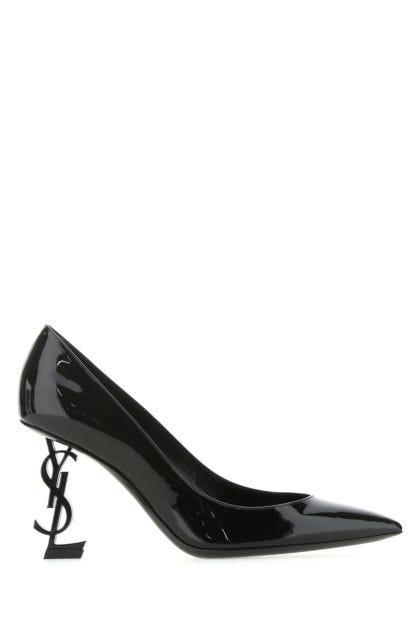 Black leather Opyum 110 pumps