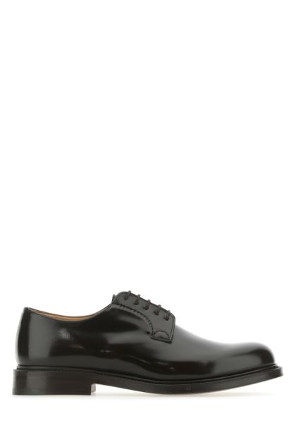 Dark brown leather Shannon lace-up shoes