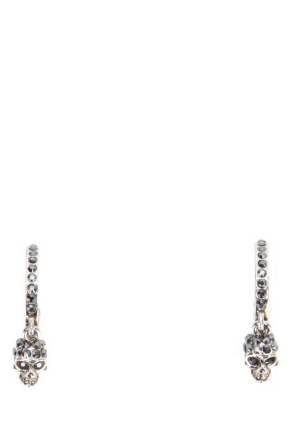 Embellished brass earrings