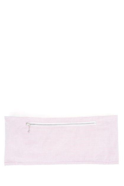 Embroidered cotton belt bag
