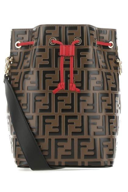 Printed leather large Mon Tresor bucket bag