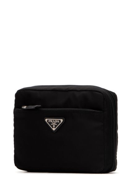 Black fabric beauty case