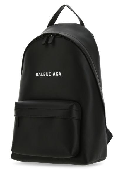 Black leather Everyday backpack