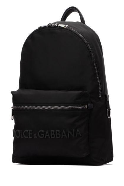 Black nylon Vulcano backpack