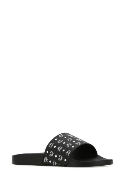 Black canvas slippers