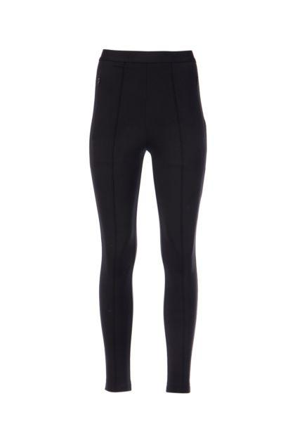 Black stretch viscose blend leggings