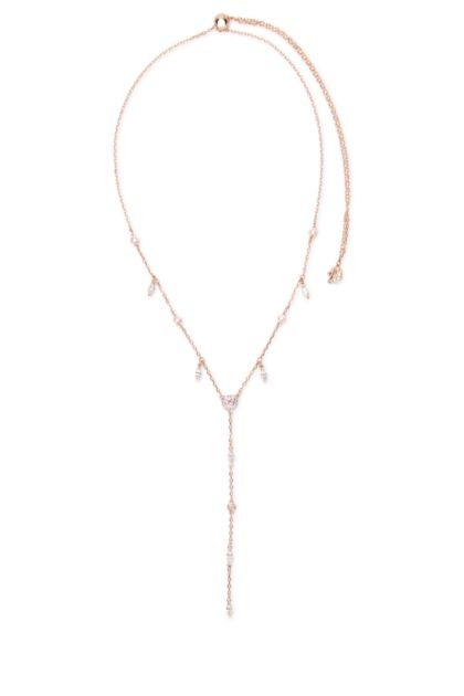 Pink metal One necklace