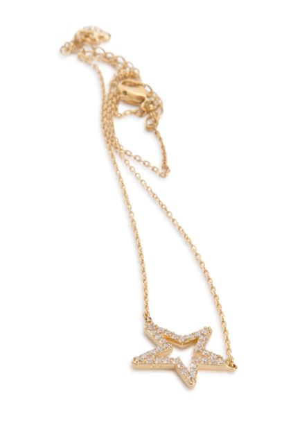 Gold metal Only necklace