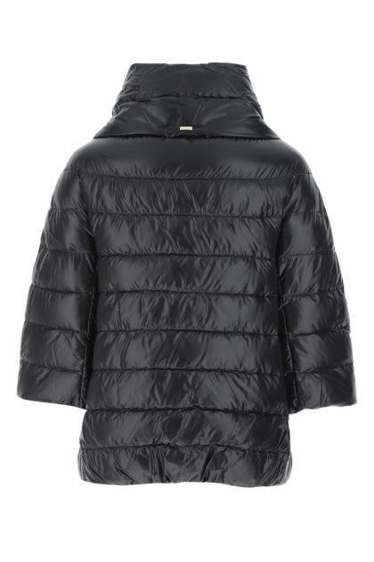 Black nylon Aminta down jacket