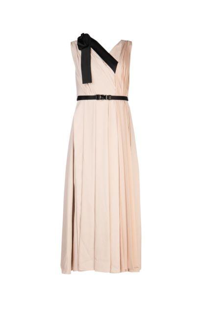 Skin pink viscose dress