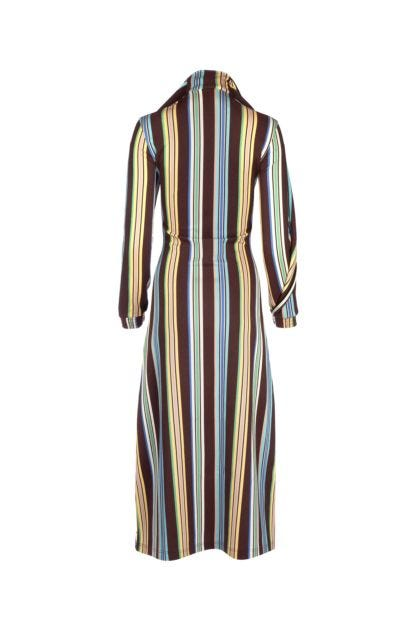 Printed viscose blend dress