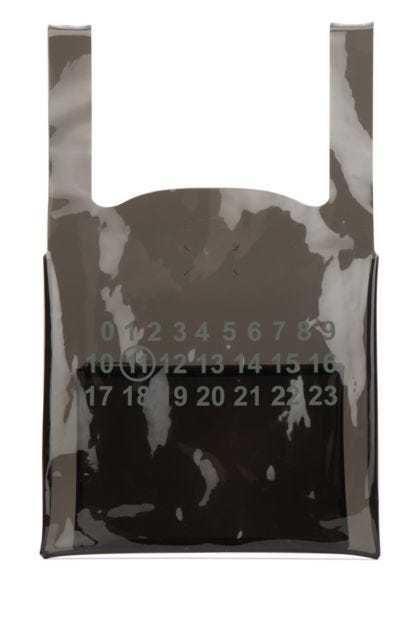Black PVC shopping bags set